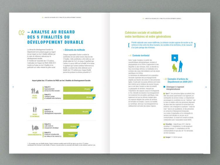 Design Graphique Lyon Rapport Activit Conseil Gnral Drme